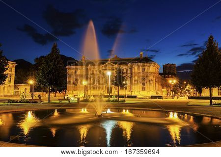 Old library on Place de Verdun in Grenoble. Grenoble Auvergne-Rhone-Alpes France.