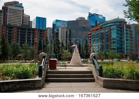 A view of the city of Calgary in Alberta Canada.