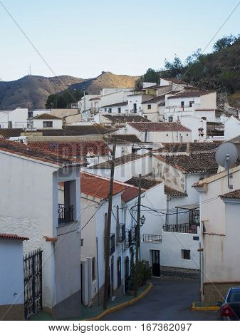 The small rural village of Lubrin in the Andalusian region of Spain.