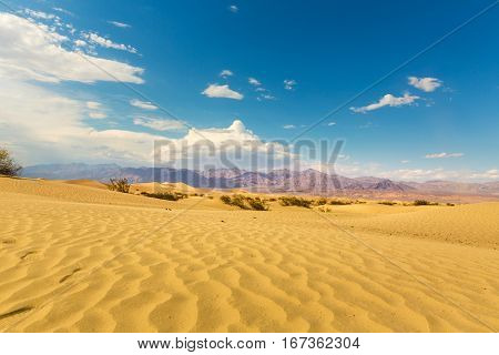 Panoramic view on Death Valley National Park