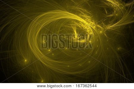 golden swirl fractal design back ground back drop