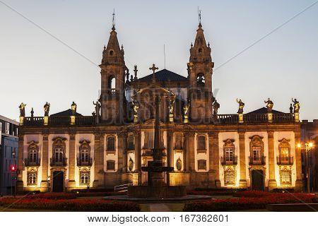 Sao Marcos Church in Braga at dawn. Braga Norte Region Portugal.