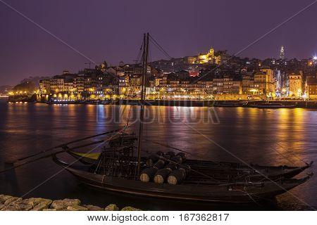 Historic Centre of Porto by Douro River. Porto Norte Portugal.