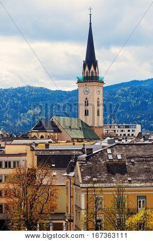 St. Jakob Church in Villach. Villach Carinthia Austria.
