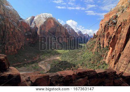 Beautiful Zion Canyon in Zion National Park, Utah