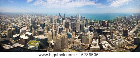 Panoramic view of Downtown Chicago
