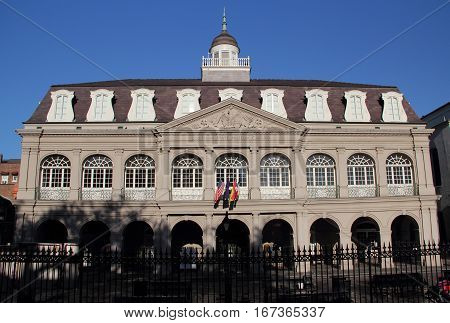 The Historic Cabildo in the French Quarter of New Orleans, Louisiana
