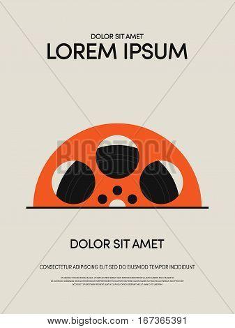 Movie and film modern vintage retro poster background design element can be used for template backdrop leaflet flyer vector illustration