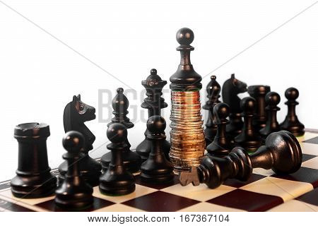 Power Of The Money Chess Concept