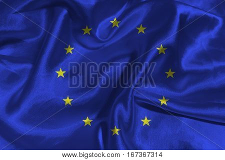 European Union flag ,3D European Union national flag 3D illustration symbol