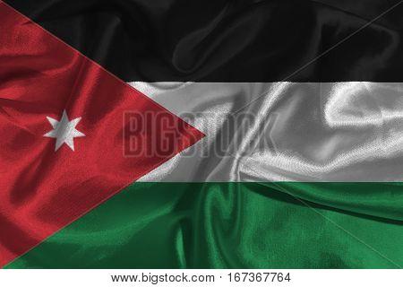 Jordan flag 3D illustration symbol. ,3D Jordan national flag illustration symbol.