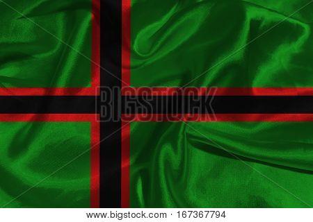 Karelia flag 3D illustration symbol. Coat of arms of Karelia
