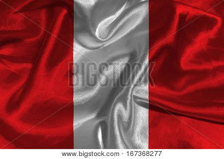 Peru national flag 3D illustration symbol. Peru flag