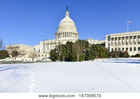 Washington DC in winter - United States Capitol building