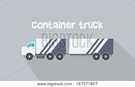 Illustration of container truck vector collection stock