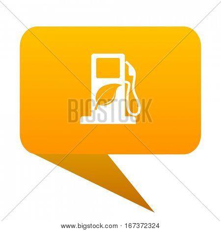 biofuel orange bulb web icon isolated.