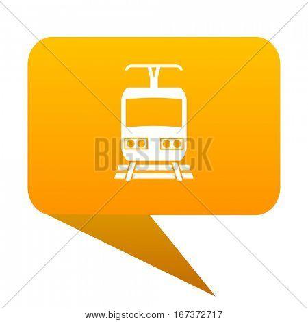 train orange bulb web icon isolated.