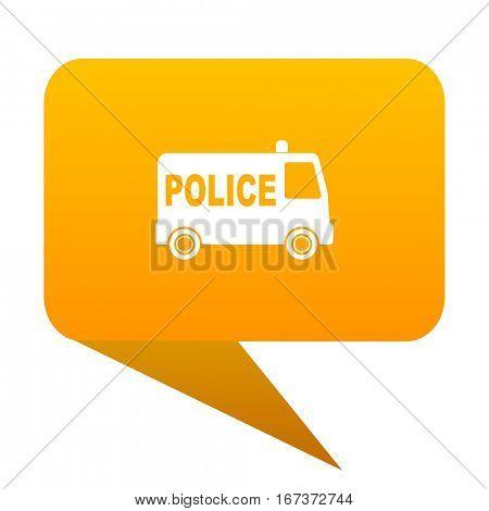 police orange bulb web icon isolated.