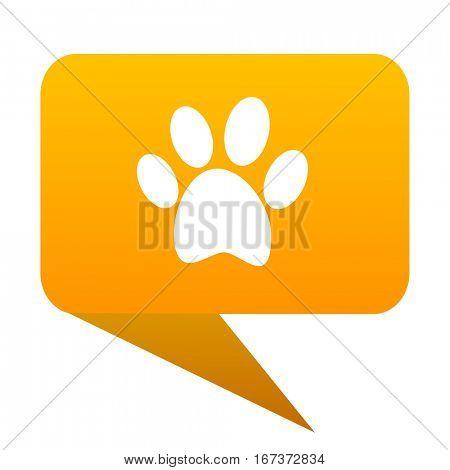 foot orange bulb web icon isolated.