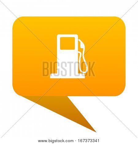 petrol orange bulb web icon isolated.