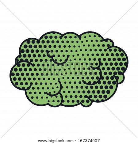 cloud callout pop art for dialogue with cumulus vector illustration