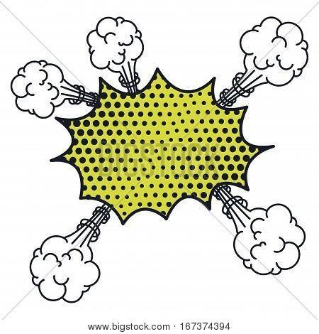 irregular cloud scream pop art for dialogue with several cumulus vector illustration