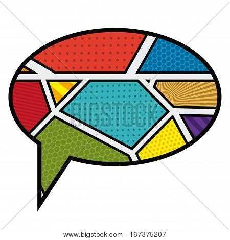 oval callout for dialogue in pop art vector illustration