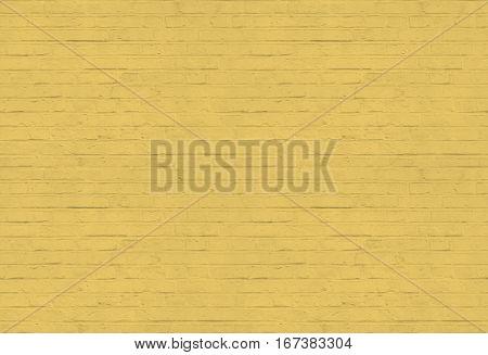 Yellow brickwall pattern background