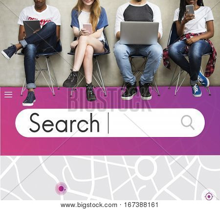 Search Engine Optimisation Finding Looking Concept