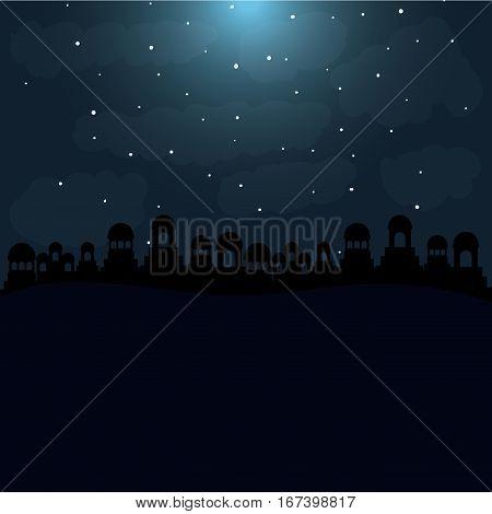 color background in desert night of bethlehem vector illustration