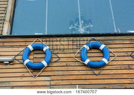 Lifesavers Or Life Preserver With Rope Around
