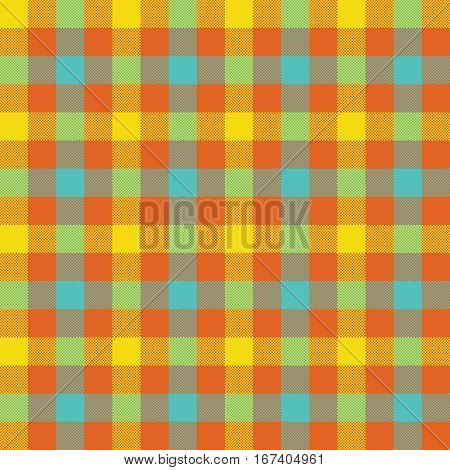 Colored check tablecloth seamless pattern. Vector illustration. EPS 10.