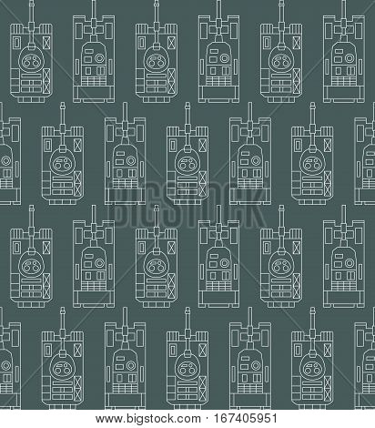 Seamless military pattern with tanks. Can be used for graphic design, textile design or web design.