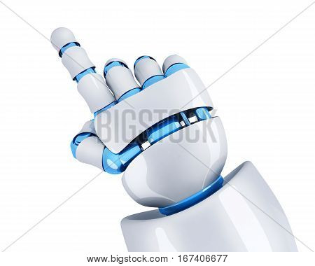Hand robot point the finger. 3d illustration