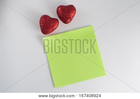Two Decorative Hearts With Sequins. Pattern Valentine On February 14