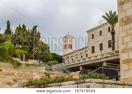 Church of St. Joseph view from Basilica of the Annunciation in Nazareth Israel