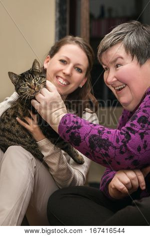 Animal Assisted Therapeutic For A Disability Develop Woman