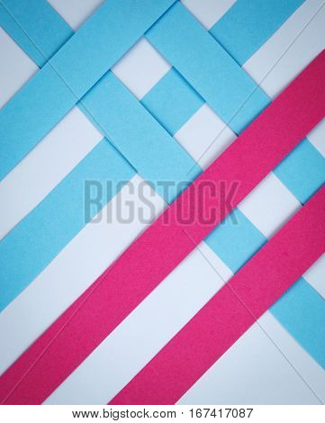 abstract background grid with colored strips of paper
