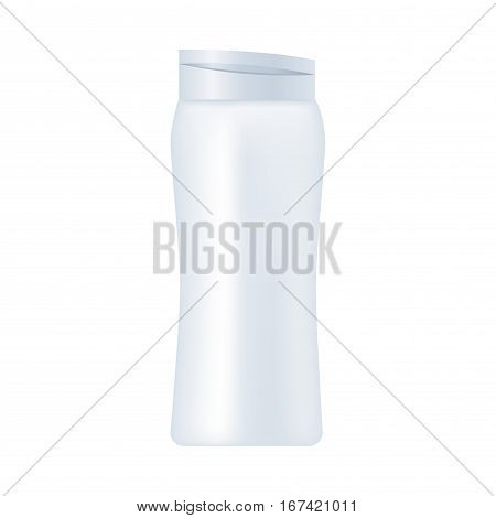 Blank cosmetic package isolated on white background. Tube for cream, shampoo, lotion, emulsion, deodorant, skin oil, hear styling mock up vector illustration