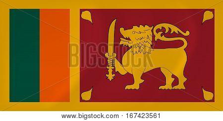 Vector image of the Sri Lanka waving flag
