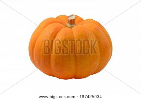 Pumpkin isolated on white background with clipping path