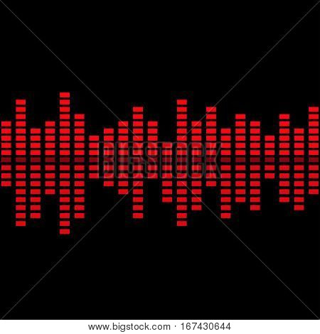 Abstract music inspired graphic equalizer background. Vector illustration