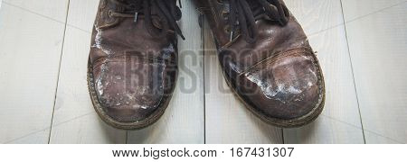 Dirty Leather men's winter boots with fur.
