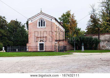 View Of Scrovegni Chapel In Padua City