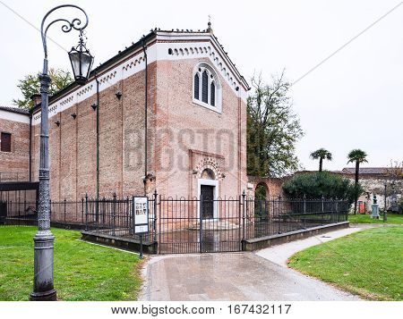Medieval Scrovegni Chapel In Padua City
