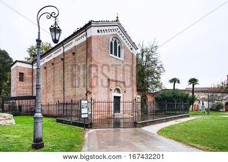 Edifice Of Scrovegni Chapel In Padua City