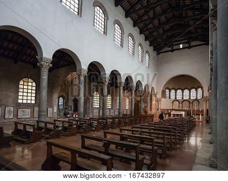 Interior Of Basilica San Giovanni Evangelista
