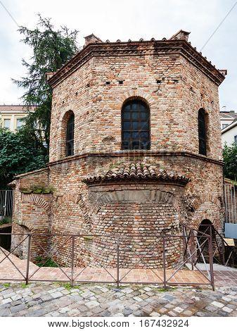 Edifice Of Arian Baptistery In Ravenna City