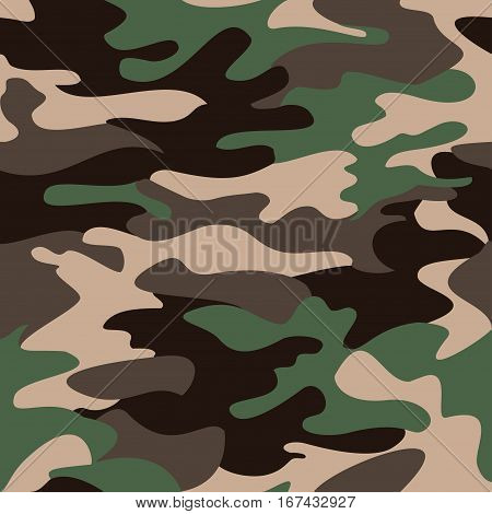 Camouflage pattern background seamless clothing print repeatable camo glamour vector. Olive black gray