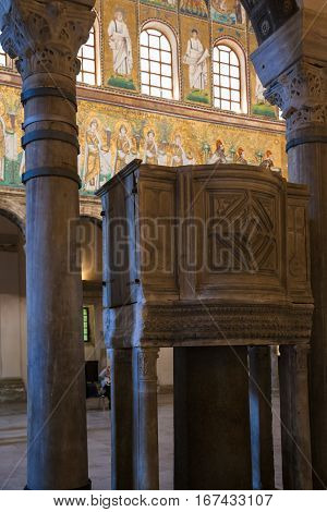 Pulpit In Catherdal Sant Apollinare Nuovo